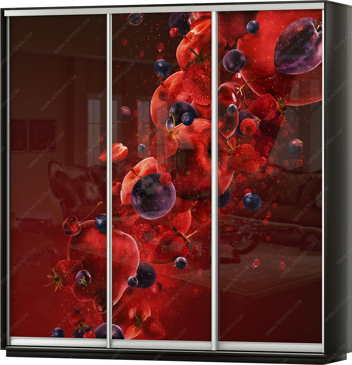 Шкафы купе с рисунками на зеркалах фото владимира