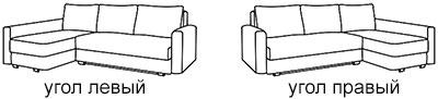 угол левый или правый